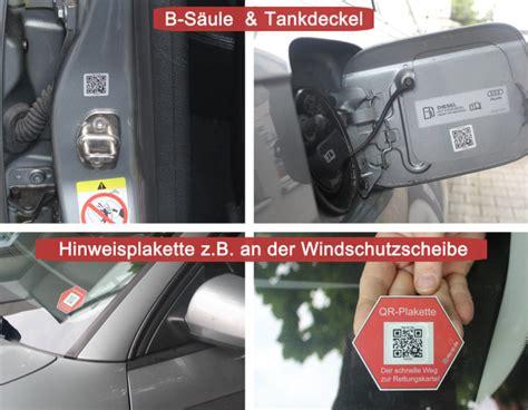 Kfz Rettungskarte Aufkleber by Qr Code Sticker F 252 Hrt Zur Kfz Rettungskarte
