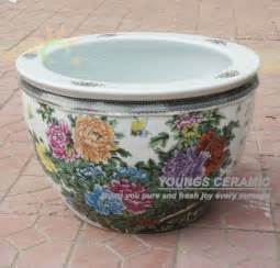 wholesale large chinease famille rose ceramic plant pots