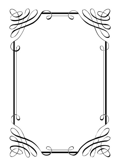 border templates for word printable wedding borders clipart best