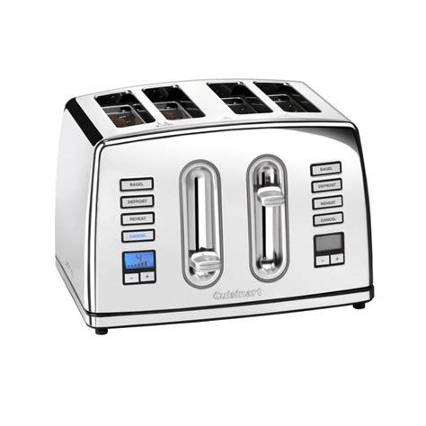 Cuisinart 4 Slice Toaster Cuisinart 4 Slice Digital Toaster Polished Stainless