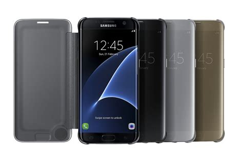 Samsung Clear S View Black Flip Cover Galaxy S7 Original funda s view flip cover clear samsung galaxy s7 edge