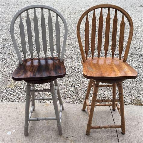 how to paint a bar stool best 25 oak bar stools ideas on pinterest pallet
