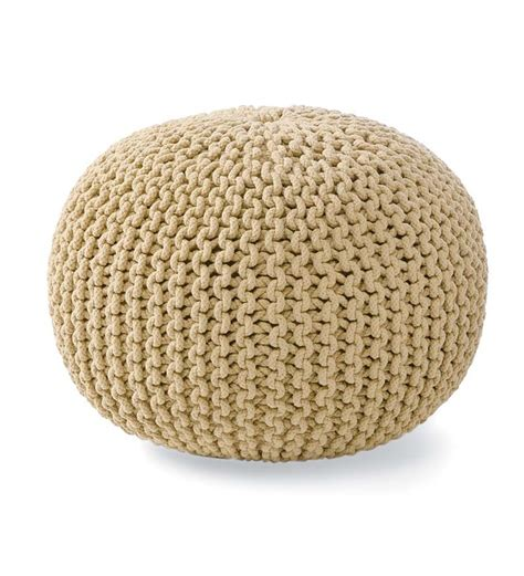 hand knitted pouf ottoman 116 best cushions images on pinterest cushions crafts