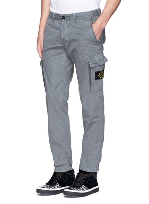 Cargo Grey lyst island coated cotton cargo in gray for