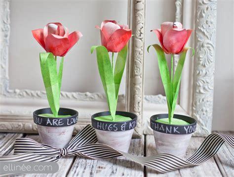 paper flower tutorial tulips diy jolies tulipes en papier le meilleur du diy
