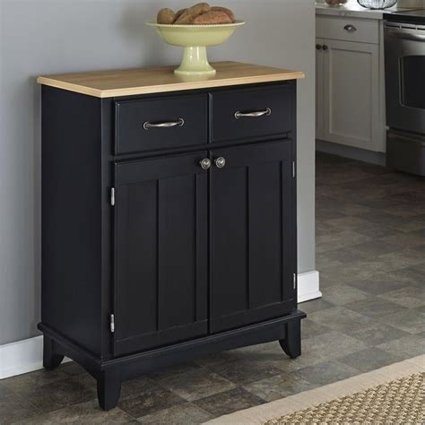 furniture black buffet kitchen island with wood