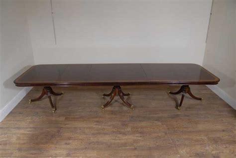 dining table seats 14 regency triple pedestal dining table seats 14 luxury ebay