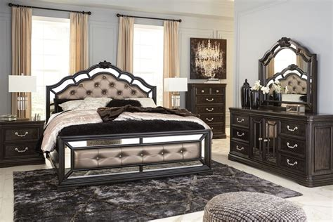 ashley bedroom set black quinshire brown upholstered panel bedroom set from ashley coleman furniture