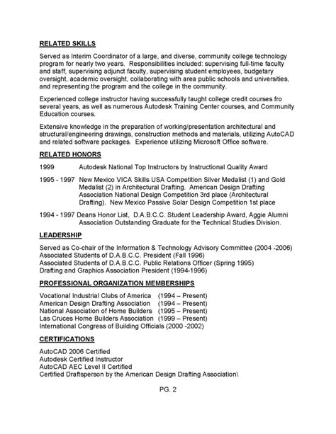 Resume Exles Drafting Design Chipper