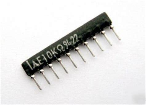 resistor network 10k 10k ohm 9 element 2 sip resistor network 100 pcs