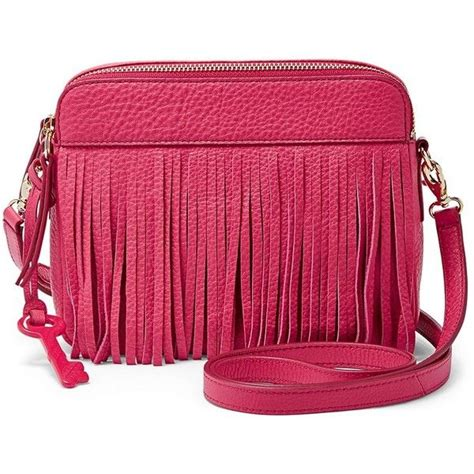 Messenger Bag Pomegranate fossil sydney fringe crossbody zb6707661 color