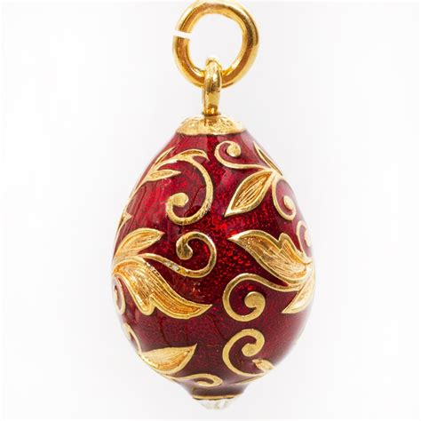Russian Patterns Faberge Style Egg Pendant   Product sku Y 122064
