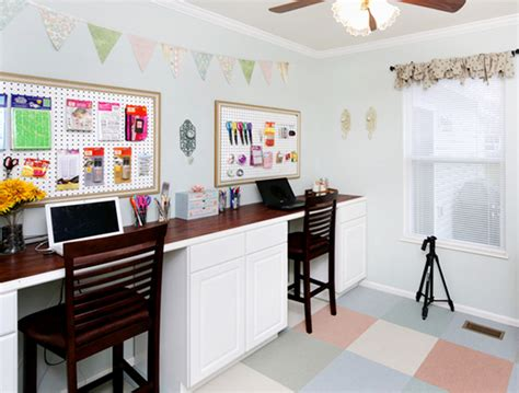 using kitchen cabinets for home office craft room organization how to nest for less
