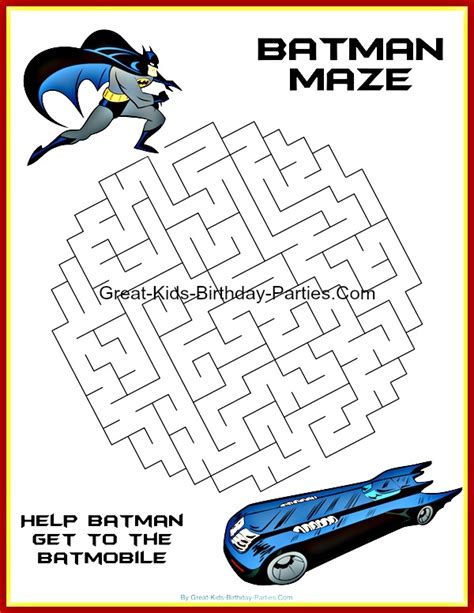coloring pages batman mazes colouring pages batman activity sheets 101 coloring pages