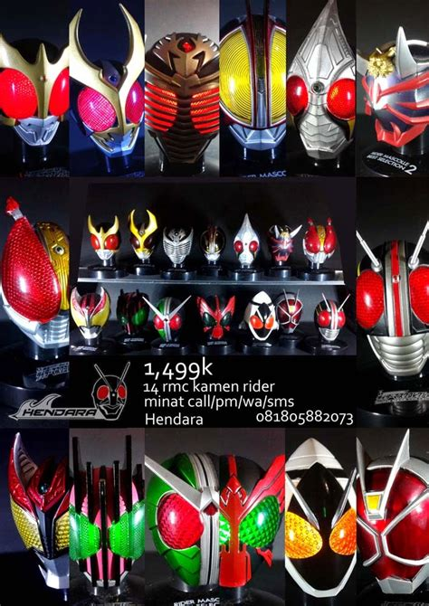Rmc Kamen Rider 2 Pcs hendara si jenius dijual helm kamen rider miniatur rmc