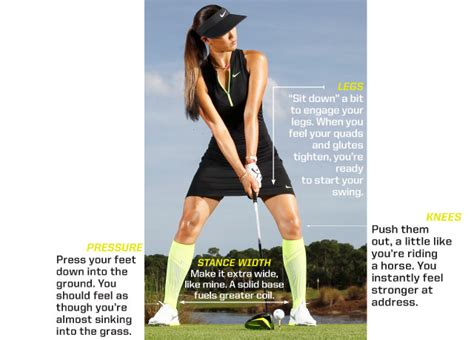 wide stance golf swing michelle wie my 4 driving secrets to find every fairway