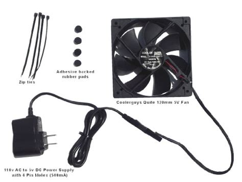 ac powered computer fan coolerguys quiet 120mm ac powered receiver component