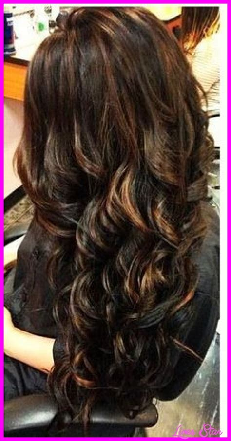 hairstyles brown hair with caramel highlights black hair caramel highlights livesstar com