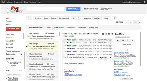 email layout gmail gmail labs adds a preview pane to gmail lifehacker australia