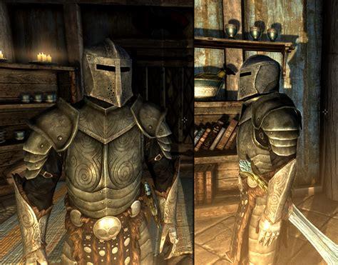 skyrim steel plate armor dawnguard full helmet without insignia at skyrim nexus
