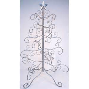 big 24 silver wire ornament display tree stand holder