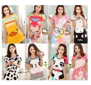 Baju Tidur Kartun baju tidur dewasa perempuan comel corak kartun pajamas dcp 0056 dopcip