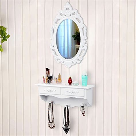 wall mounted vanity table mini wall mounted dressing vanity table with mirror