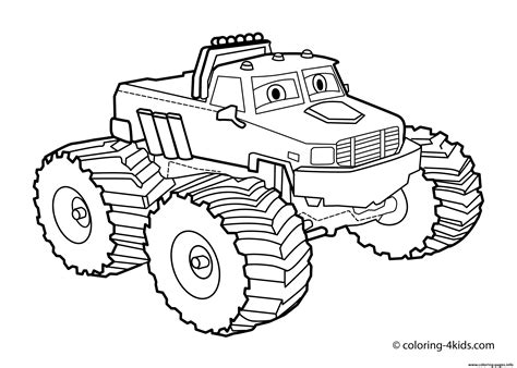bigfoot monster truck coloring pages easy bigfoot monster truck coloring pages printable