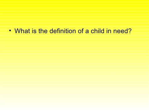 section 17 child in need definition key areas for exam