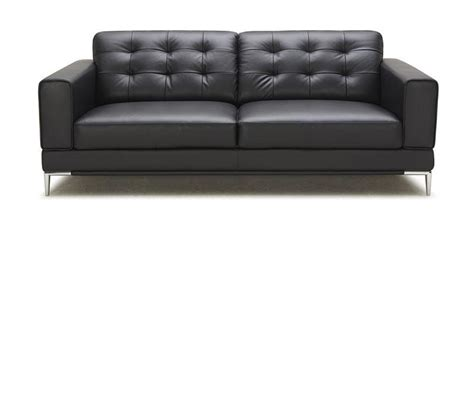 Dreamfurniture Com Larkspur Modern Black Bonded Modern Black Leather Sofas