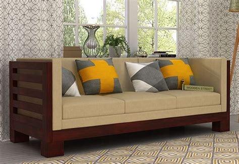 three seater wooden sofa designs 3 seater sofa buy three seater sofa online upto 70 off