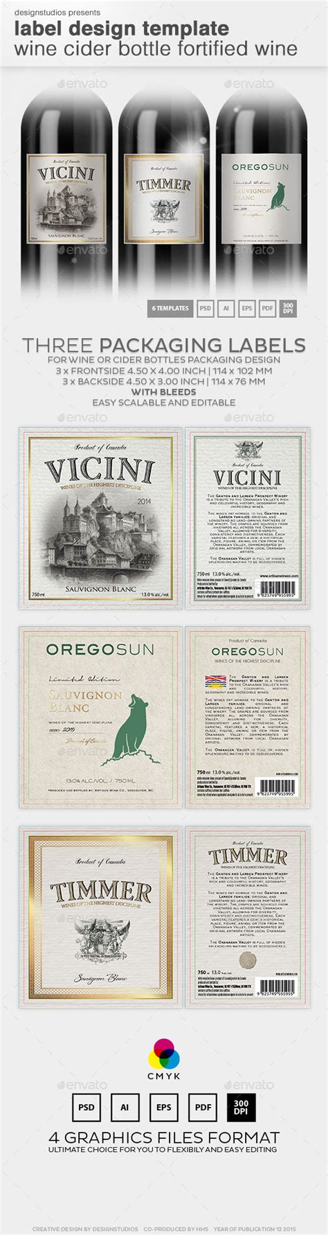 bottle label design templates label design template wine cider bottle by designstudios