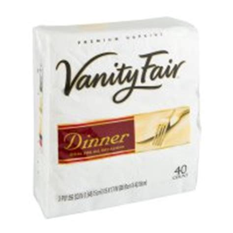 Vanity Fair Tablecloths by Vanity Fair Napkins Premium Dinner 3 Ply