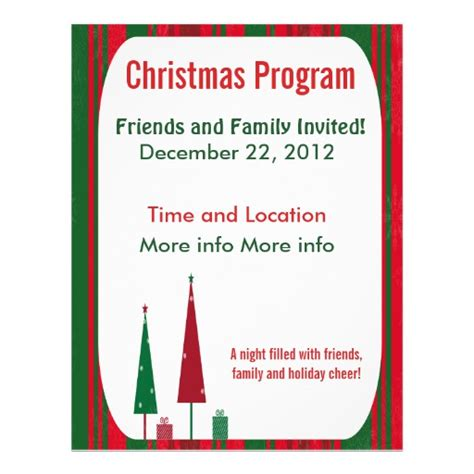 christmas program template program flyer templates program promotional flyers