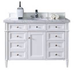 Bathroom Vanity Cabinets With Tops Contemporary 48 Inch Single Bathroom Vanity White Finish No Top