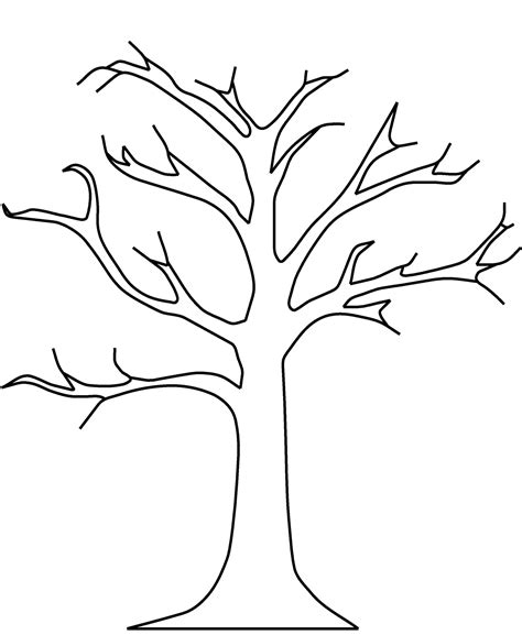 Tree Coloring Pages Dr Odd Printable Tree Coloring Page