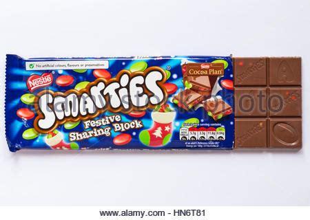 Nestle Smarties Chocolate Block bar of nestle smarties festive block of chocolate