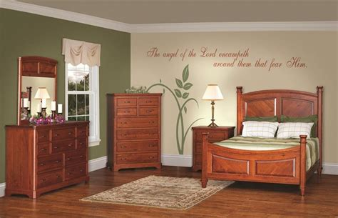 amish bedroom furniture sets american made rustic cherry bedroom furniture set