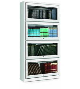 Deep Shelf Bookcase Four Door Bookcase With Metal Top In White Finish By