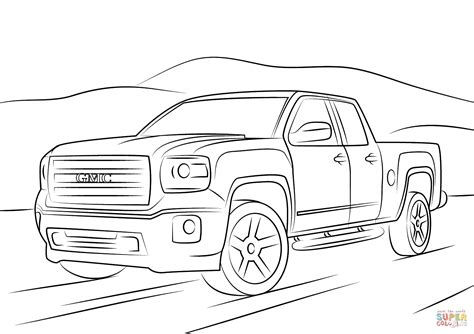 coloring pages gmc truck gmc sierra coloring page free printable coloring pages