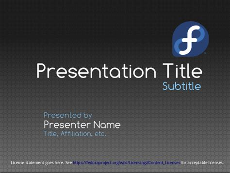 ppt title slide template presentations template fedora project wiki