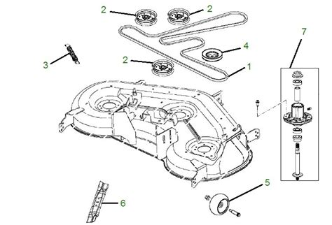 deere d170 deck belt diagram deere la150 parts mower pit stop
