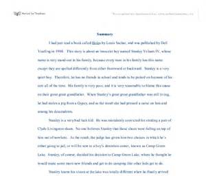Holes Essay by Holes By Louis Sachar Essay Help Standard Scientific Research Paper Format Best Personal