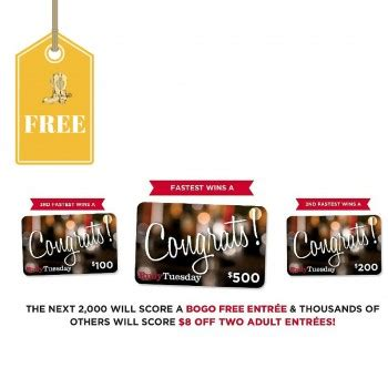 Ruby Tuesday Gift Card Promotion - possible free ruby tuesday gift card or coupons