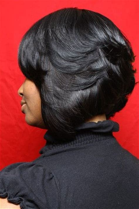 black short bob and feathered out feathered bob layered bobs and bobs on pinterest