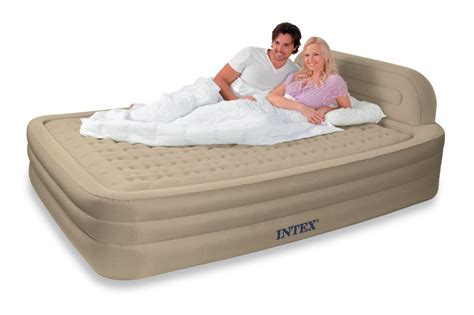 intex deluxe raised frame comfort airbed mattress ebay