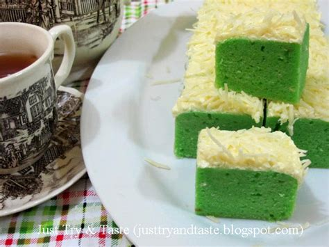 Brownies Kukus Pandan Keju resep brownies kukus keju pandan just try taste