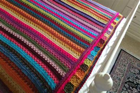 Attic24 Stripe Blanket by Cosy Stripe Blanket On The Edge Crafternoon Treats