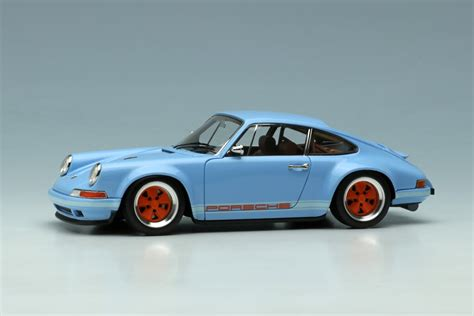 blue porsche 911 gulf blue porsche singer 911 by up co ltd 1 43