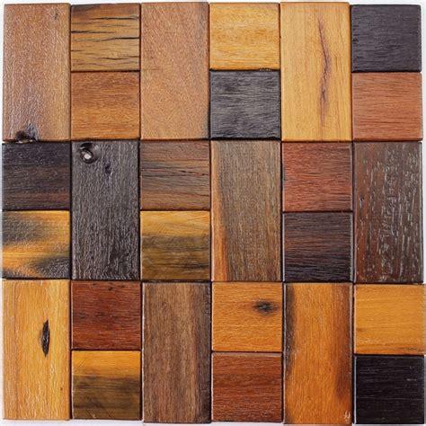 1 x 1 wood floor panels 12x12 quot rustic wood mosaic tile wood kitchen